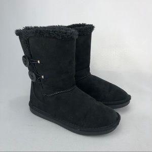 Girl's SONOMA Black Slip On Boots. Size 13